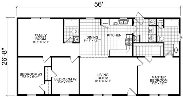 Atlantic ESDA25601 Floor Plan Carmichaels
