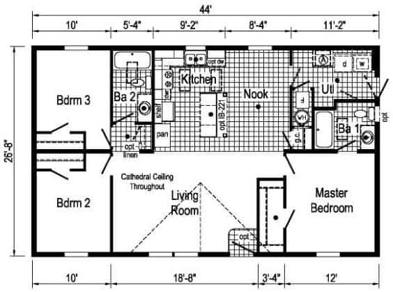 Commodore TD1005P Floor Plan Vandergrift