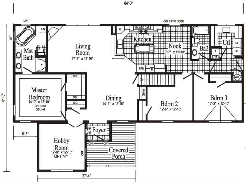 Pennwest Hobby Home II Floor Plan Greensburg