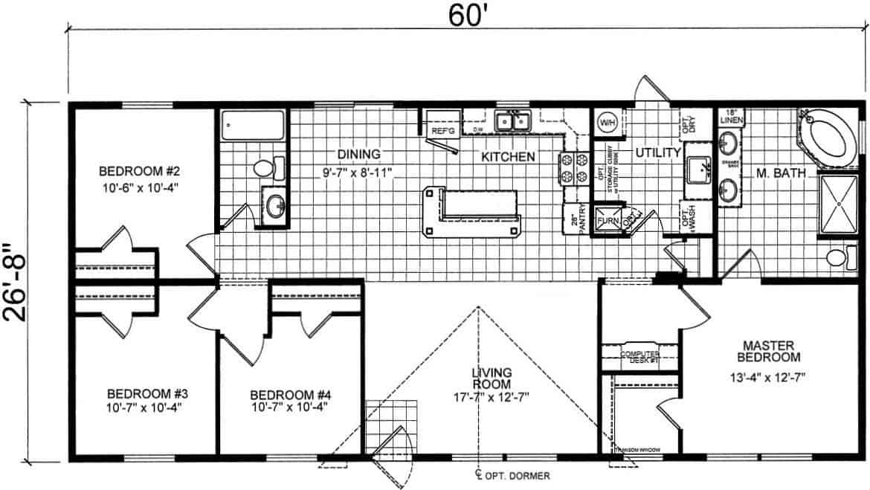 Atlantic ESDA46026 Floor Plan Vandergrift