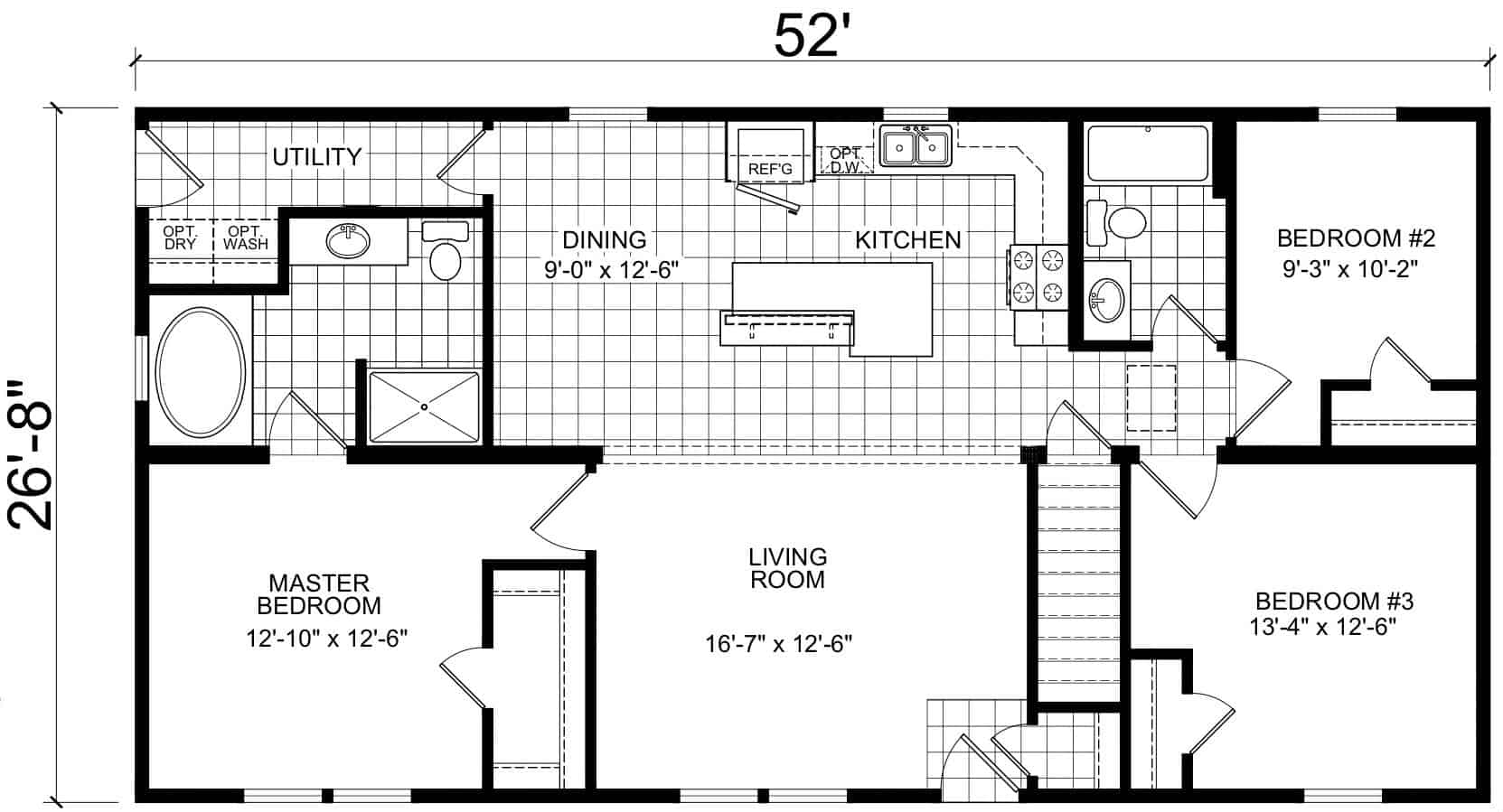 Atlantic ICMA95252 Floor Plan Vandergrift