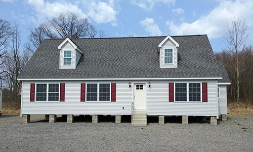 White Modular Home on Blocks