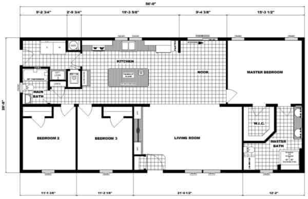 Pleasant Valley NETR G-3458 Floor Plan Butler