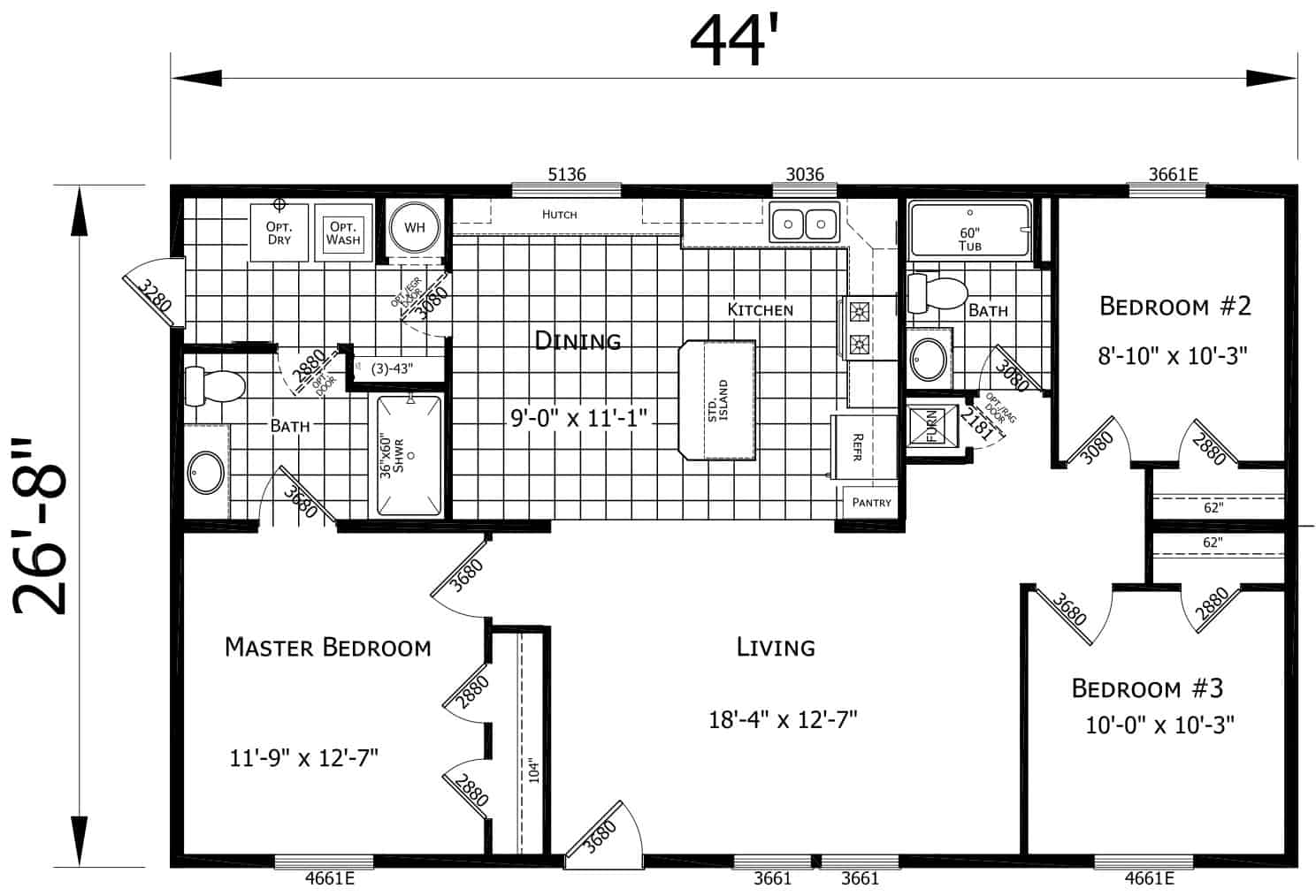 Atlantic ESDA24402 Floor Plan Carmichaels