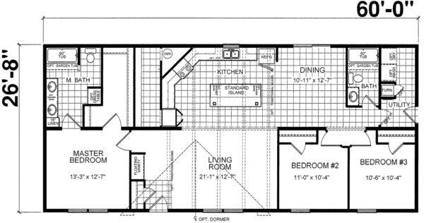 Atlantic ESDA26402 Floor Plan Greensburg