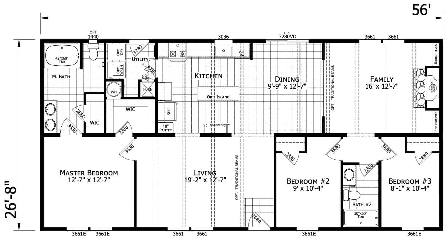 Atlantic ESDA26003 Floor Plan Vandergrift