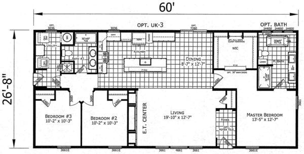 Atlantic ESDA26008 Floor Plan Vandergrift
