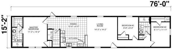 Atlantic ESSL27607 Floor Plan Vandergrift