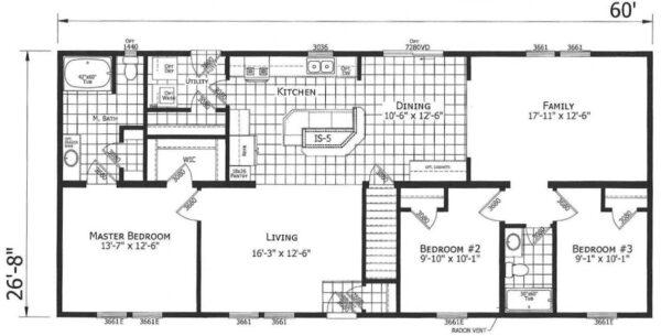 Atlantic ICMA96003 Floor Plan Carmichaels