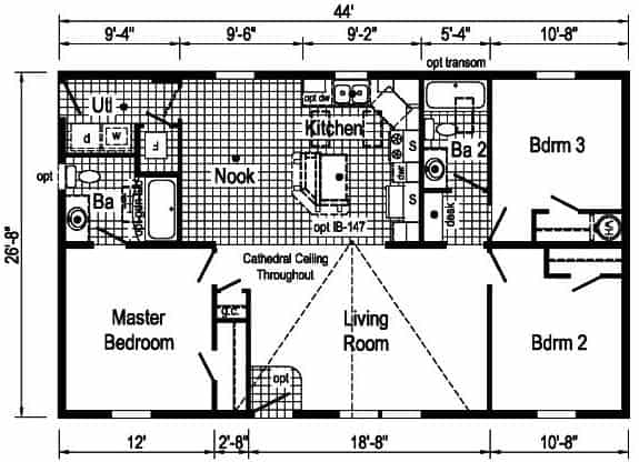 Commodore 3A2007P Floor Plan Prospect