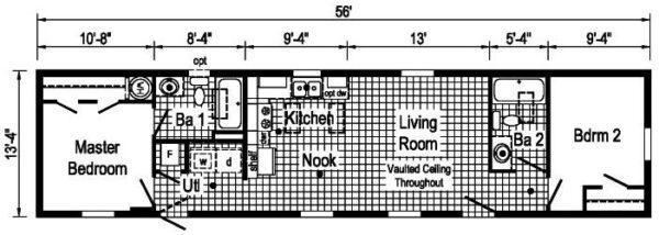 Commodore TS1005P Floor Plan Butler
