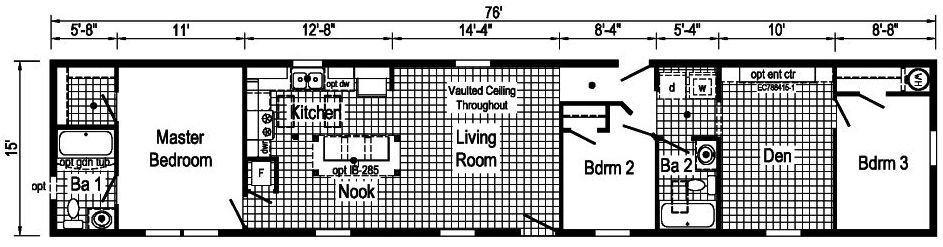 Commodore 1A2025V Floor Plan Greensburg
