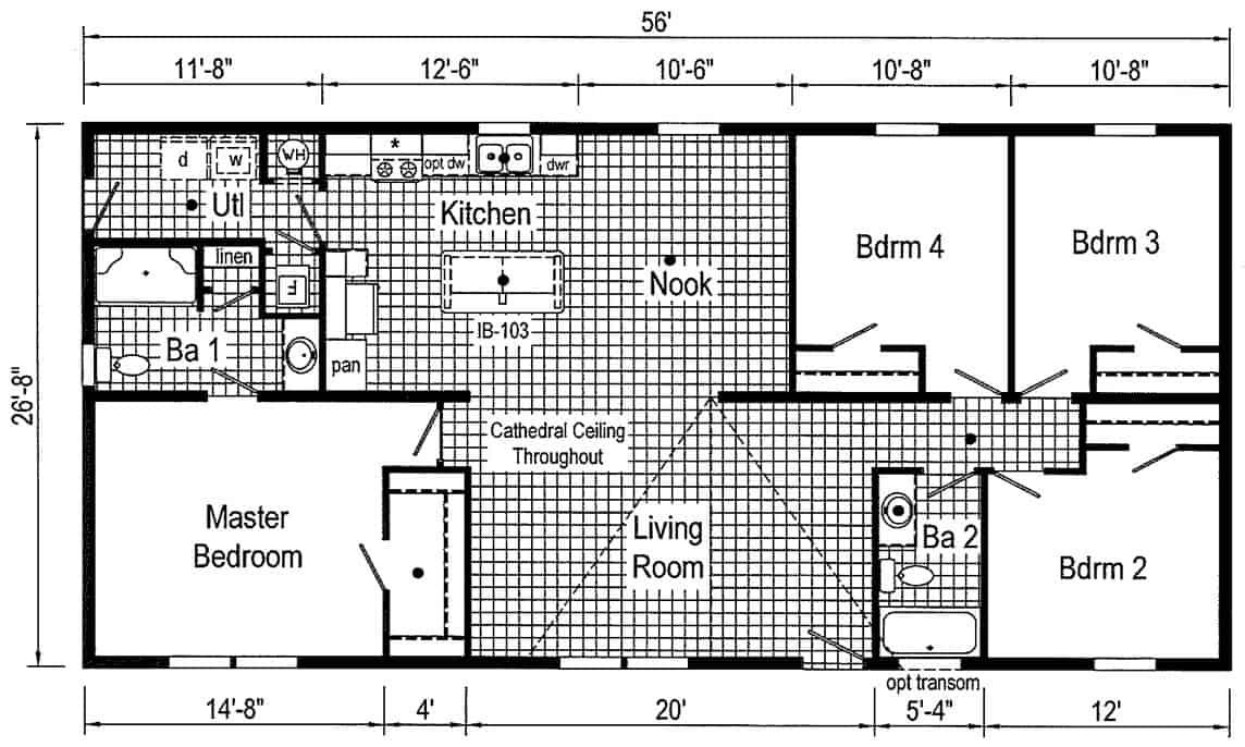 Commodore 3A2019P Floor Plan Butler