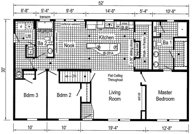 Commodore 3AM2803V Floor Plan Butler