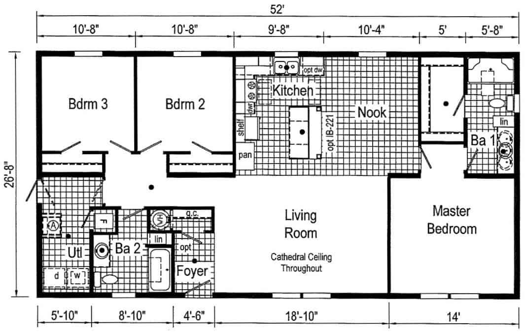 Commodore TD1001P Floor Plan New Alex