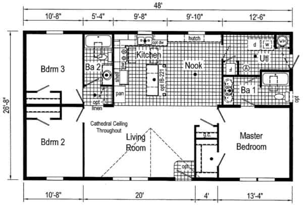 Commodore TD1006A Floor Plan Greensburg