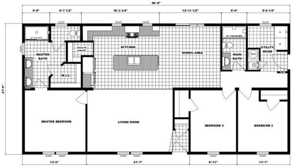 Pleasant Valley G-3465 Floor Plan Carmichaels
