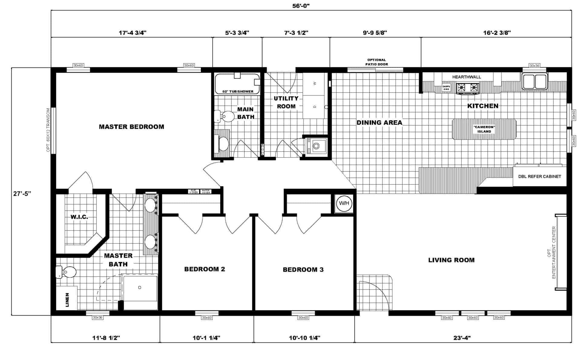 Pleasant Valley G-3467 Floor Plan Carmichaels